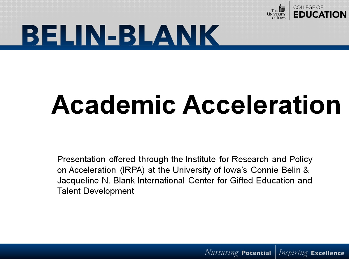 Acceleration PowerPoint